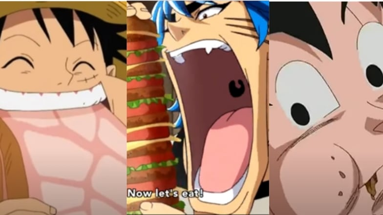 Eating Contest Between Luffy, Toriko, and Goku- Who Wins?